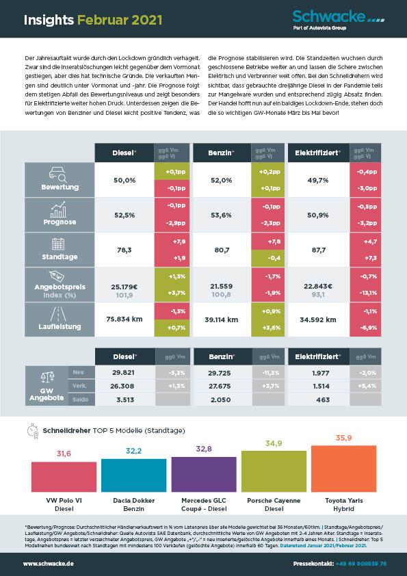 Insights Februar 2021 Restwertdaten in Grafiken